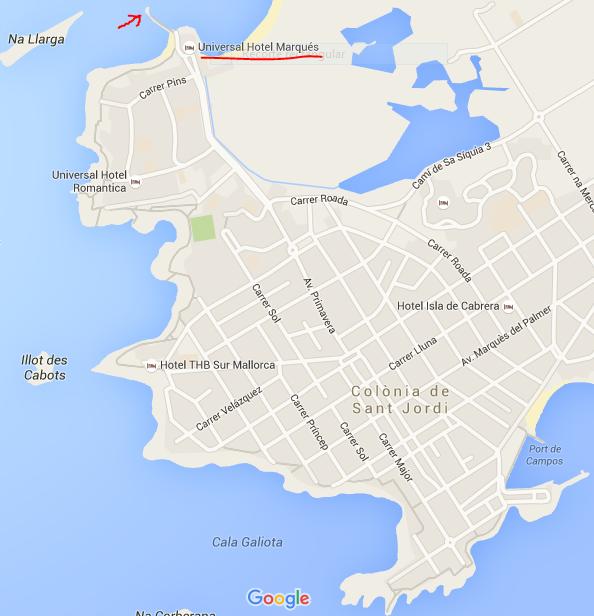 Catamaran Es Trenc embarkment point