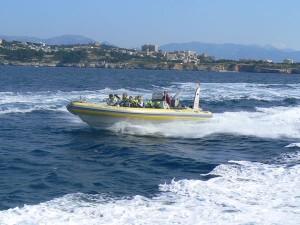 Excursión en Mallorca lanchas